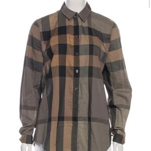 Exploded Check Burberry Button Down Blouse